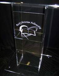 plexiglas pulpit